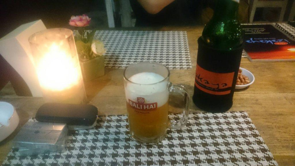 バリ島でビール